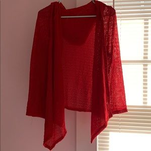 Red Cardigan from Francescas